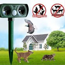 Ultrasonic Solar Powered Animal Chaser Repeller Repellent Deterrent Cat Dog Fox
