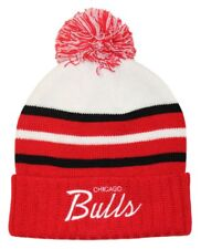 Chicago Bulls Knit Mitchell & Ness NBA CB Special Script Red Knit Hat Brand New