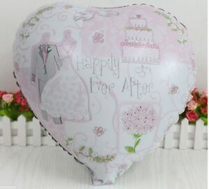 """Wedding Balloon 18"""" Heart Decoration Engagement Anniversary Happily Ever After"""