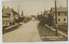 1912 Schleisingerville SLINGER Wisconsin Main Street Real Photo Postcard RPPC