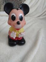 Vintage 1960s Walt Disney Mickey Mouse Rubber Squeaky Toy Made In Italy EXl Cond