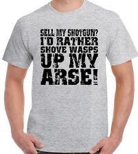 Sell My Shotgun? Mens Funny Hunting T-Shirt Clay Pigeon Shooting Hunt Hunter