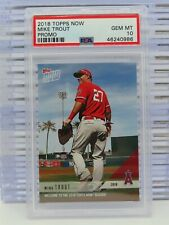 2018 Topps Now Mike Trout Promo Card PSA 10 GEM MINT Angels U23