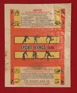 Vintage 1933 Goudey Sports King Wax Pack Wrapper - Antique Thorpe Ruth Grange
