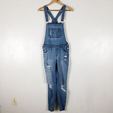 Almost Famous Distressed Overalls Sz 9