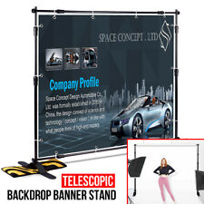 8x8FT 10x8FT Adjustable Telescopic Banner Backdrop Stand Tradeshow