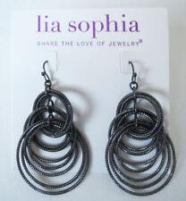 Lia Sophia Jewelry Voltage Earrings in BLACK RV$36