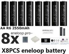8x Panasonic Eneloop Pro 2450mAh AA High Capacity Rechargeable Batteries New MH