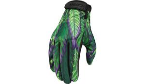 New Icon Hooligan Ritemind Motorcycle Gloves - Green