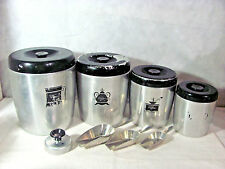 West Bend Aluminum Canister Set plus 3 Aluminum Scoops and Biscuit/Donut Cutter