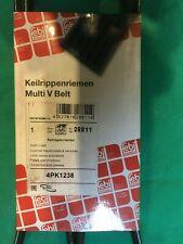Genuine Febi Multi V Belt 4Pk1238 Poly V-Ribbed Belt 28811