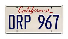 Training Day   Denzel Washington   ORP 967   STAMPED Replica Prop License Plate