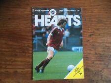 Scottish Premier League Football Scottish Fixture Programmes (1980s)