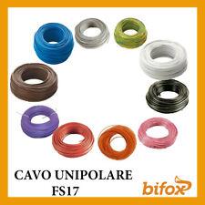 FILO CAVO UNIPOLARE CORDINA FS17 1,5 2,5 4 6 MM RAME A METRO IMPIANTI CORRENTE