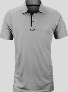 Oakley Hydrolix - Elemental 2.0 Mens Polo Golf Shirt - Stone Gray - S Small Grey