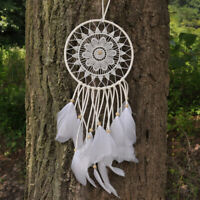 Indian White Lace Feather Dream Catcher Home Wall Hanging Decoration Gift