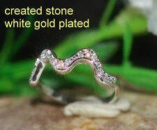 1mm DIAM0NDS wave shape ring size O 7.5
