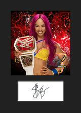 SASHA BANKS #2 (WWE) Signed (Reprint) Photo A5 Mounted Print - FREE DELIVERY