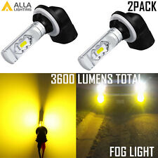Alla Lighting 898 881 56-LED Golden Yellow Fog Light Bulb High Viability,Snow