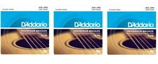 D'Addario EJ16 Acoustic Guitar Strings Phosphor Bronze Light 12-53 (3-Pack)