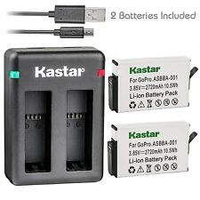 Kastar Battery & Dual USB Charger for Gopro Fusion 360-Degree Action Camera