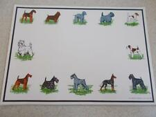 Lot of 20 DOG TERRIER PAPER PLACE MATS Larklain Prod. 1968 1969 vintage NOS NEW