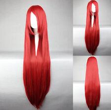 Glatte Perücken & Haarteile mit klassischer Kappe in Rot Kunsthaar-Kunst