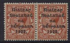 Ireland 1922 1½d PENCF Error Mint in Pair w/ normal SG10a Sc 15a T15a CV600 Euro