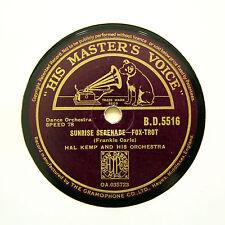 "HAL KEMP ORCHESTRA ""Sunrise Serenade / F.D.R. Jones"" (E+) HMV BD-5516 [78 RPM]"