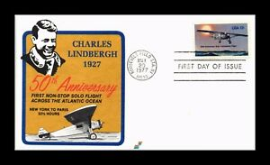 DR JIM STAMPS US CHARLES LINDBERGH FLIGHT ANNIVERSARY FIRST DAY ISSUE COVER