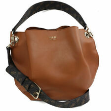 Guess Multi Digital Hobo Purse - Cognac - Faux Leather Handbag