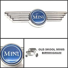 CLASSIC MINI BLUE BONNET/BOOT WING BADGE AUSTIN MORRIS COOPER ROVER 3P4