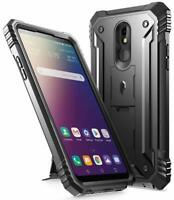 Poetic For LG Stylo 5V Kickstand Case,Dual Layer Shockproof Cover Black