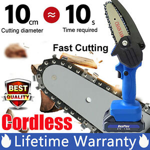 Household Small Handheld Electric Chain Saw for DIY Wood Cutting 4-Inch 21V 550W