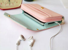Pink Multifunctional Wallet Purse Phone Case Fr Samsung Galaxy S5 S6/Iphone 6S 7