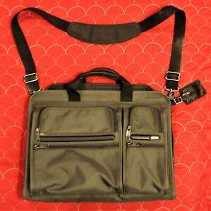 Tumi Alpha Nylon Expandable Briefcase 26114GYOP Gray Laptop Case/Bag 26114 GYOP