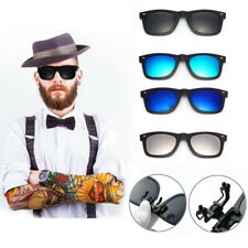 Retro Style Polarised Clip On Flip Up Myopia Sunglasses Kids Teen Mirror Lens