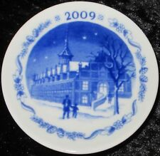 2009 ROYAL COPENHAGEN FAYENCE MINI WEIHNACHTSTELLER / CHRISTMAS PLAQUETTE