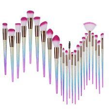 24X Rainbow Unicorn Diamond Mermaid Makeup Brushes Set Powder Foundation Contour