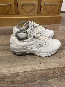 Saucony Powergrid Womens Sneakers White With Grey Trim AU/US 8 UK 6