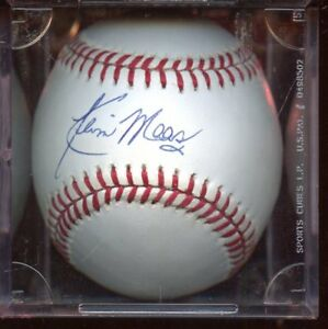 OAL Baseball Kevin Maas Signed Autographed Official American League COA Matching Holograms