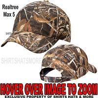 Men's Realtree Max 5 Camo Hat Baseball Cap Hunting Adjustable NEW!