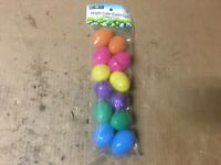 Rite Aid EASTER  Plastic FILLABLE EASTER EGGS Asst Bright Colors