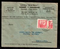 Bolivia 1939 60c Chinchilla Bisect on Cover to Buenos Aires WS20251