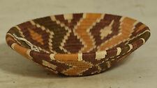 African Basket Botswana Natural Beige Brown South Africa Woven Palm Basket