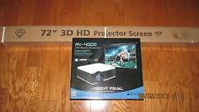 Ambient Visual AV-4000 Led 4K 3D projector with 72 inch Screen Unopened in Box