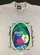 True Vintage 80s 90s Coca-Cola Classic Coke Soda Flamingos Graphic Pink T-Shirt
