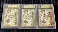 1990 Pro Set Offensive R.O.Y. Emmitt Smith ROOKIE RC #800 BGS 9 MINT LOT OF 3