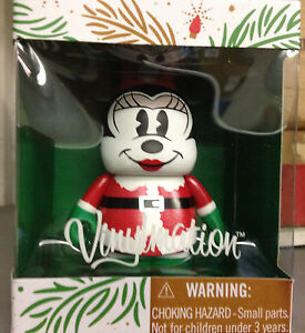 "Santa Minnie Mouse 2013 Holiday Christmas 3"" Vinylmation Claus Mickey Merry"