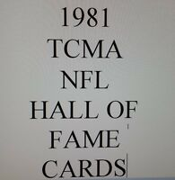 1981 TCMA HALL OF FAME cards for Sale - $0.99 each - MANY DIFFERENT- You Pick!!